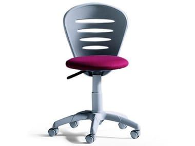 Plastic chair with castors VELA | Chair