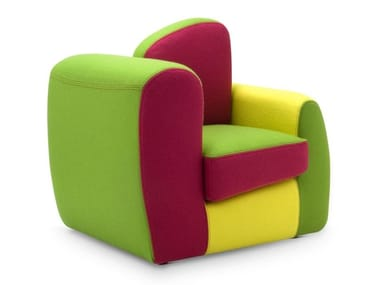 Fabric Kids armchair with armrests SYMBOL BABY
