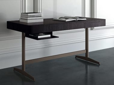 Steel and wood writing desk ERNEST