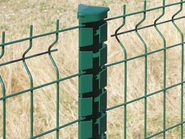 Palo per recinzione in acciaio zincato PROFILPLAX