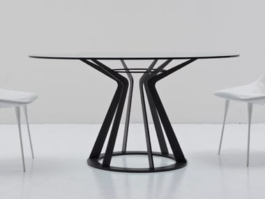 Round crystal table MITOS