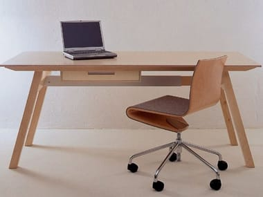Multi-layer wood table / writing desk UNIVERSAL