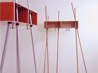 Multi-layer wood coat rack / hallway unit ADAM RIESE