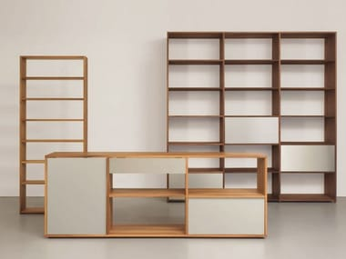 Modular solid wood bookcase DASREGAL