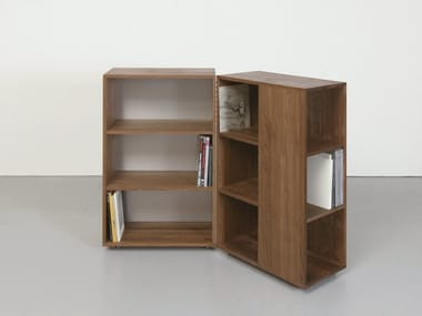 Bookcase with casters QUARTIER | Bookcase