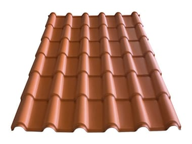 Roof in curved plastic laminate element LaRomana®