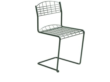 Cantilever wire mesh garden chair HIGH TECH | Garden chair