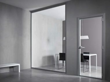 Hinged tempered glass door VETRA UNO