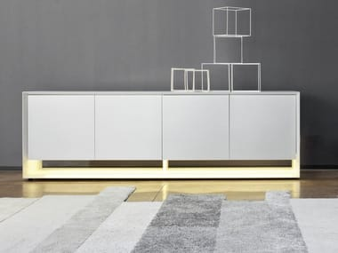 Lacquered sideboard with doors SUNRISE LIGHT