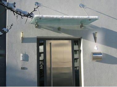 Glass door canopy BASIC | Door canopy