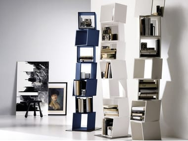 Sectional swivel bookcase RUBIK