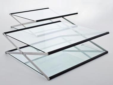 Low crystal coffee table NOX