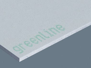Plasterboard partition GREENLINE | Gypsum fiber Natural insulating felt and panel for sustainable building