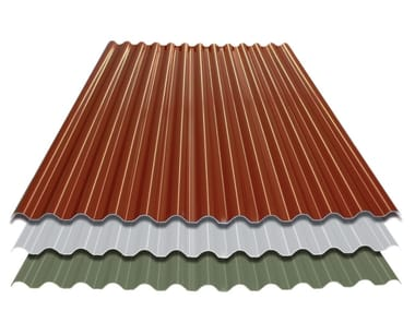 Roof in curved plastic laminate element ECOLINA®