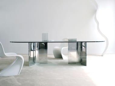 Oval crystal table RAJ