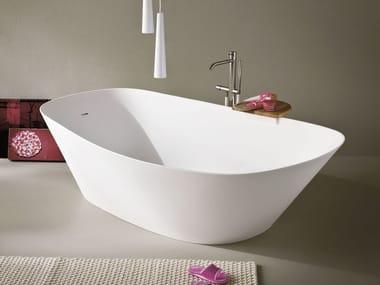 Baignoire ilôt ovale en Korakril™ FONTE | Baignoire ilôt