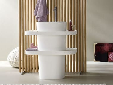 Lavabo freestanding ovale in Corian® FONTE | Lavabo freestanding