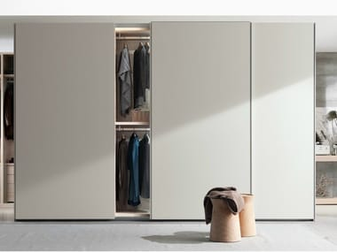 Lacquered wardrobe with sliding doors NEW ENTRY | Wardrobe with sliding doors