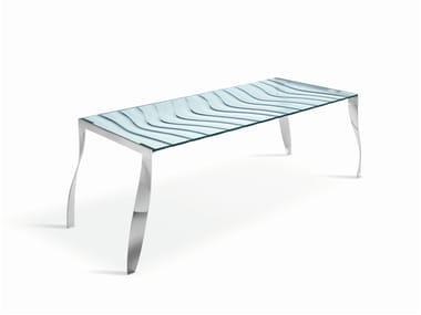 Glass table LUZ DE LUNA