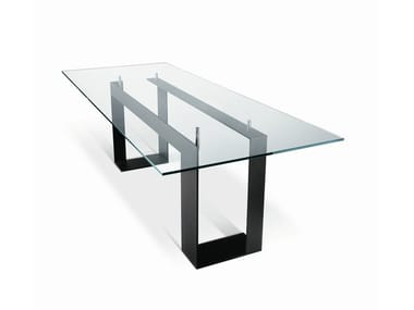 Rectangular glass table MILES