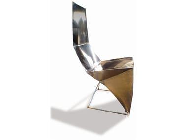 High-back steel chair SKINNY BACK