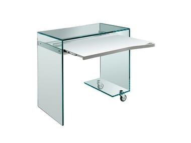 PC glass writing desk WORK BOX