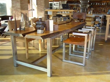 Rectangular wooden table DISECTION