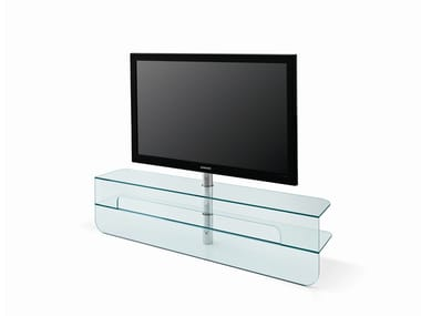 Low glass TV cabinet PLASMATIK