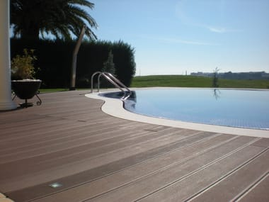 Outdoor engineered wood wall/floor tiles TECNODECK®