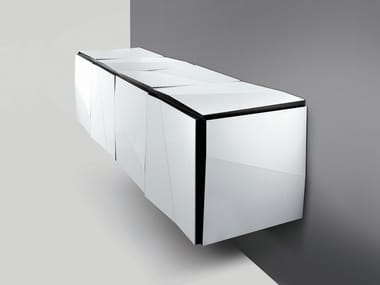 Mirrored glass sideboard with doors PSICHE | Sideboard