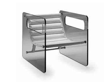 Glass armchair with armrests NAKED