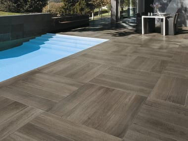 Porcelain stoneware outdoor floor tiles with wood effect NUANCES | Outdoor floor tiles