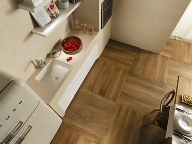 Porcelain stoneware flooring with wood effect NUANCES   Flooring