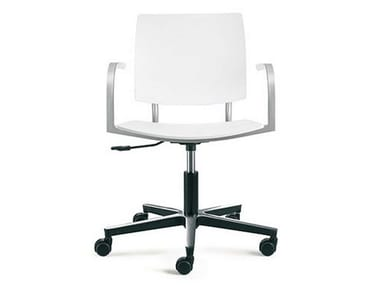 Task chair with 5-Spoke base with casters BIO-L | Task chair with armrests