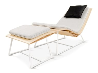 Bamboo armchair with footstool BEE | Armchair with footstool