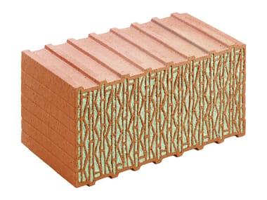 Loadbearing clay block UNIPOR W07 CORISO  PASSIVHAUS