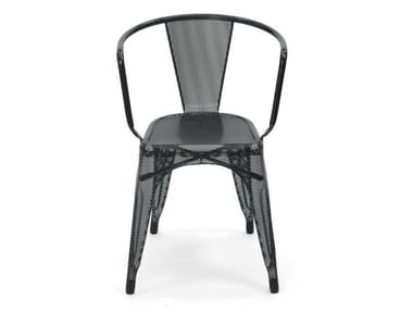 Wire mesh chair with armrests A56 | Wire mesh chair