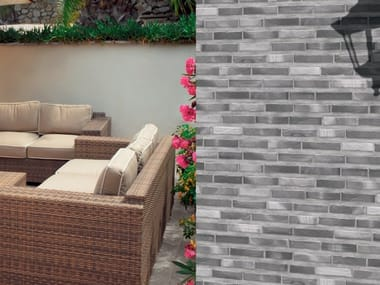 Porcelain stoneware wall tiles with brick effect ALGARVE