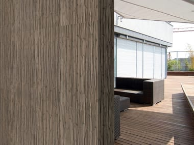 Porcelain stoneware wall tiles with wood effect BAMBÚ
