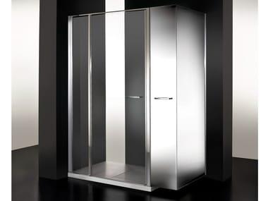 Box doccia in cristallo con vano estraibile TWIN MINI