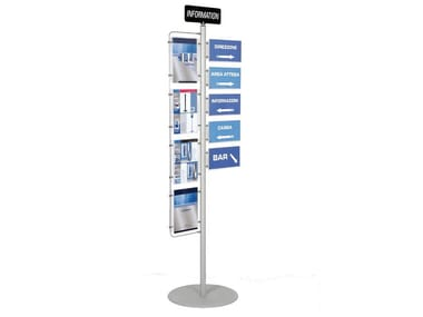 Double-sided column display stand INFO-POINT
