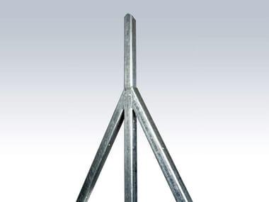 Recinzione in acciaio zincato PALETTI A C ZINCATI