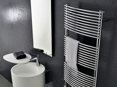 Wall-mounted carbon steel towel warmer BD_BEND