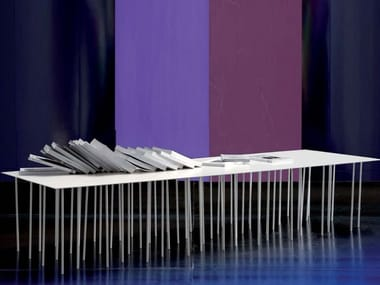 Low rectangular coffee table DANZANTE