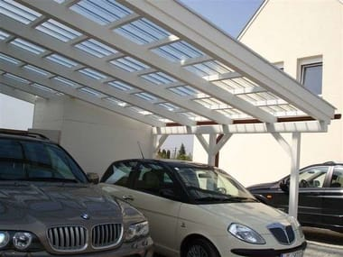 Polycarbonate porch for parking areas FASTLOCK | Polycarbonate porch