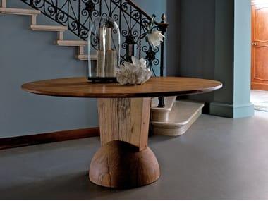 Tavolo rotondo in legno di recupero BRANCUSI | Tavolo rotondo