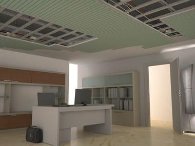 Radiant plasterboard ceiling tiles B!KLIMAX+ PLASTERBOARD