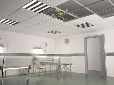 Radiant steel ceiling tiles B!KLIMAX+ QUADROTTO