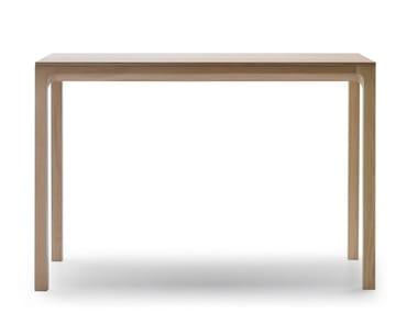Rectangular oak high table LAIA | High table