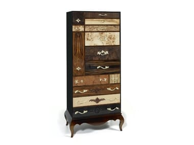 Wood veneer chest of drawers QUEENS | Chest of drawers
